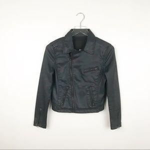 Adriano Goldscmied   Black Laquered Denim Jacket S